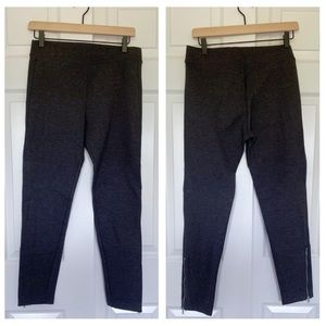Gap gray women's soft joggers w/side ankle zippers